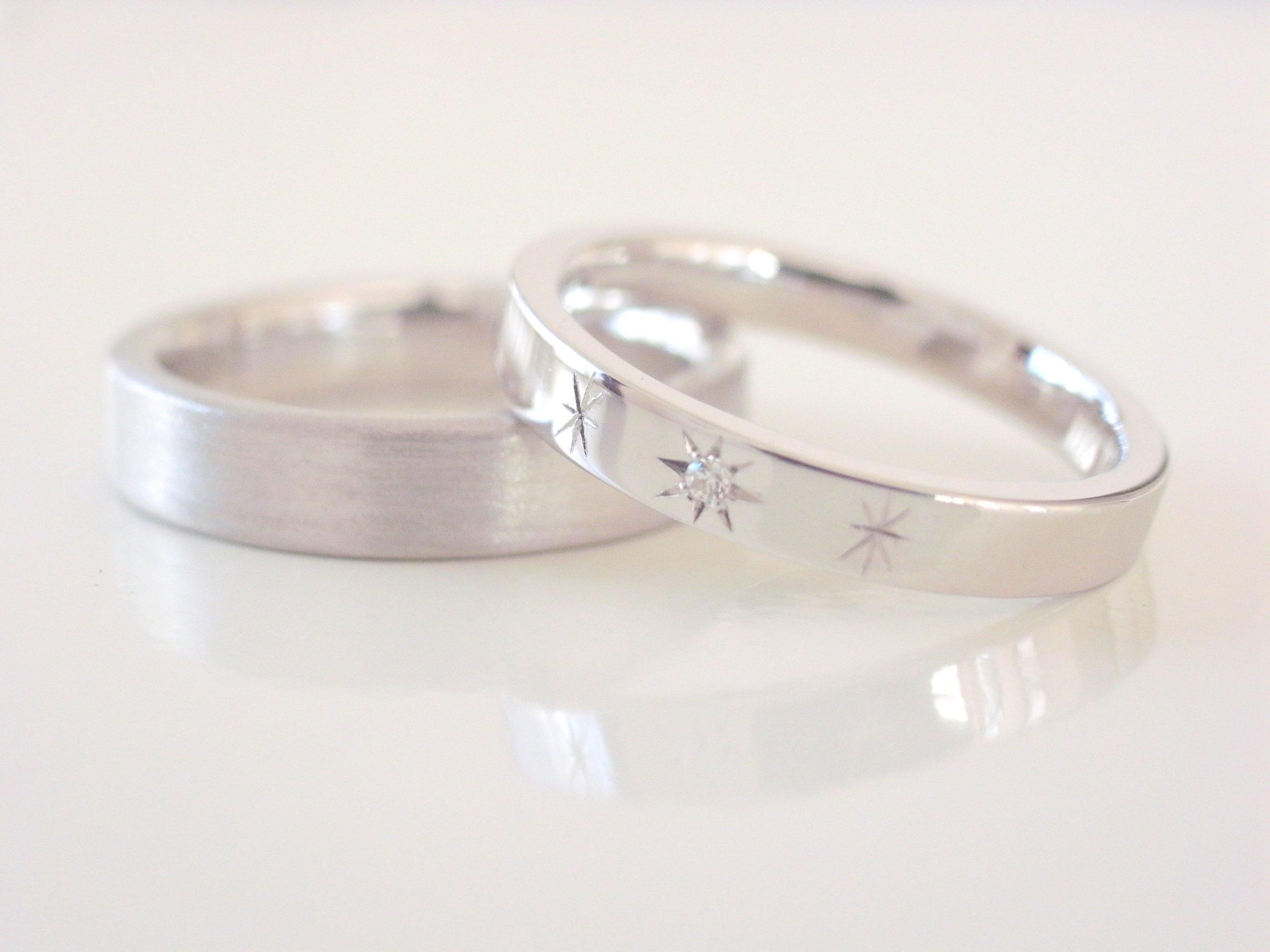 結婚指輪・婚約指輪のホワイトゴールド