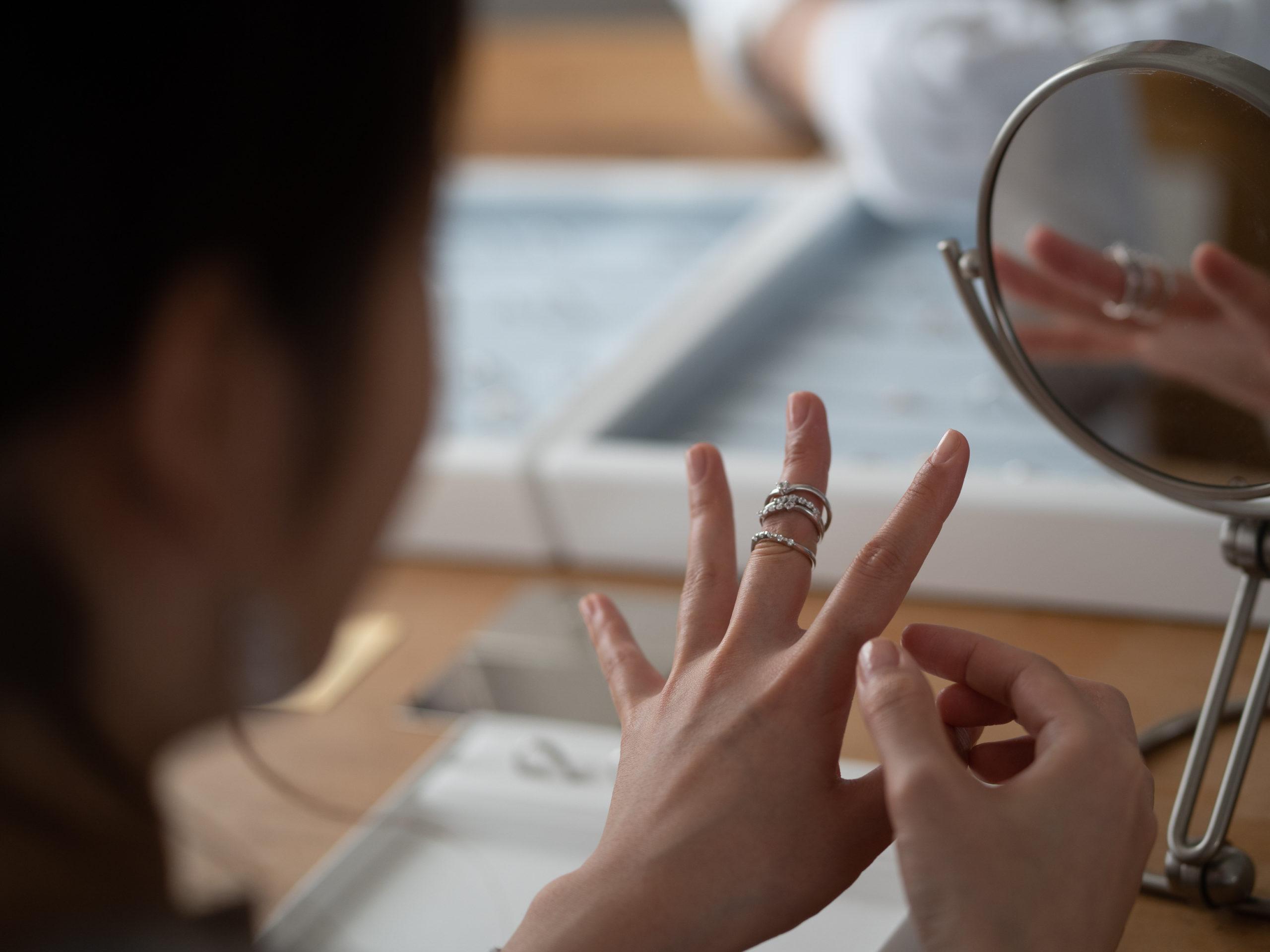 似合う指輪って・・・。...