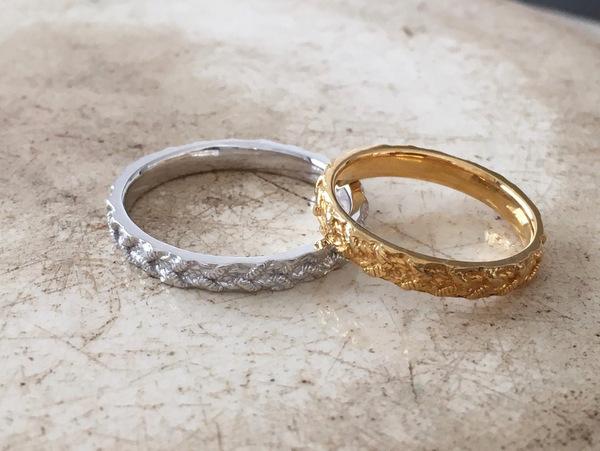 オーダーメイドでお作りした結婚指輪・a maglia...