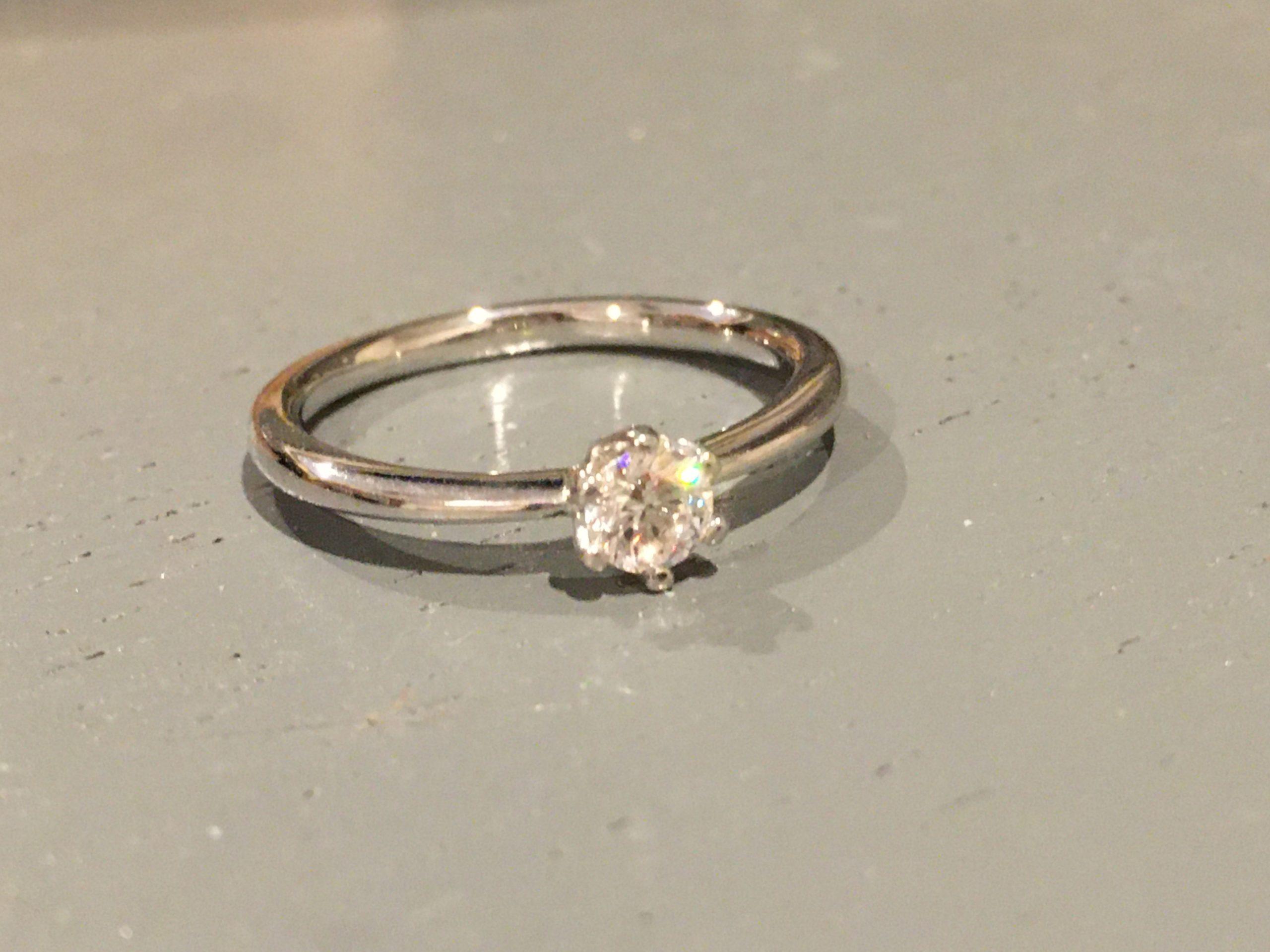 ダイヤモンドリングのお手入れについて...