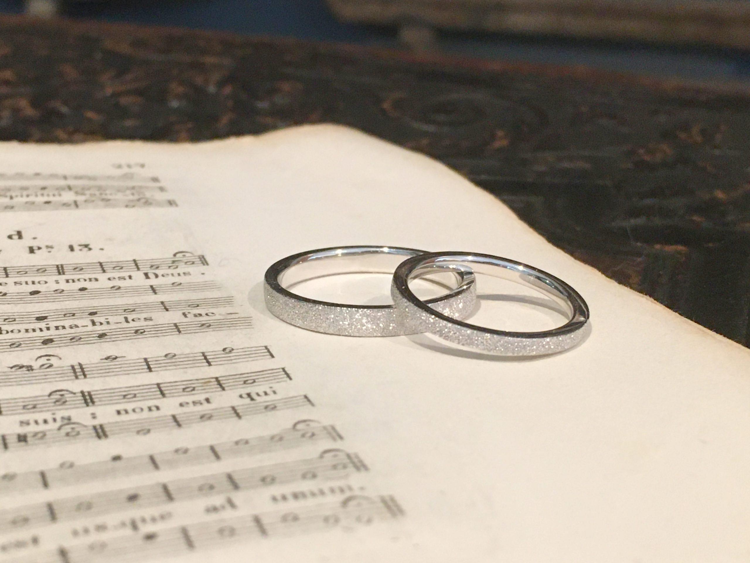 今日納品の結婚指輪について...