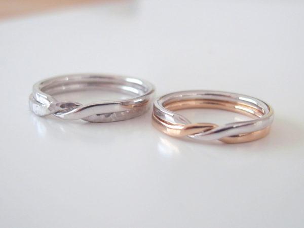 ギメルリングの結婚指輪・プラチナとピンクゴールド