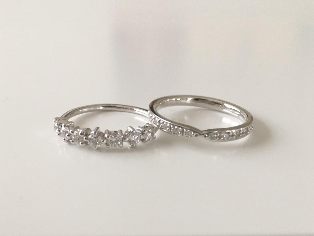 結婚指輪のダイヤモンド...